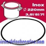 Joint en Silicone de Diamètre 220 mm pour Autocuiseur Domina / Maga / Novia /  Pratica Lagostina
