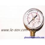 Manomètre pour Détendeur Oxygène, Gradué Jusqu'a 15-16 Bars(200-230 psi)