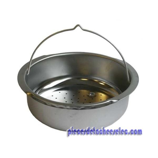panier vapeur inox rigide avec support pour cocotte clipso