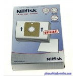 Lot de 5 Sacs Papier avec Pré-Filtre pour Aspirateurs GM6 / Coupé Nilfisk