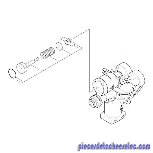 T te de cylindre version 1 pour nettoyeur haute pression - Karcher pieces detachees nettoyeur haute pression ...
