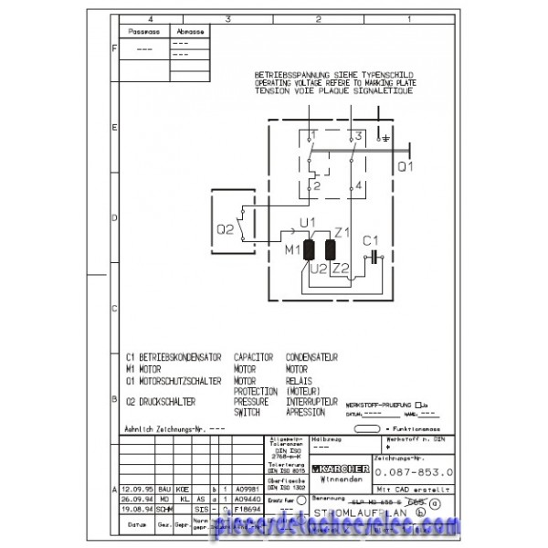 interrupteur marche arret pour nettoyeur haute pression k rcher hd 650 sx plus pi ces. Black Bedroom Furniture Sets. Home Design Ideas