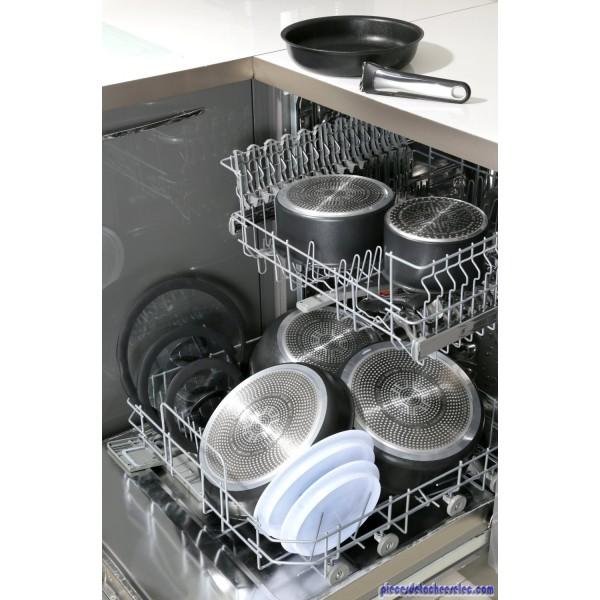 Couvercle anti projections 20 28 cm pour gamme ingenio 5 - Ustensiles de cuisine tefal ...