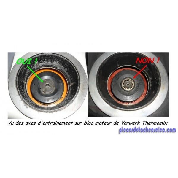 Ensemble bloc roulement de couteaux joint pour thermomix vm 2000 vm 2002 - Vorwerk thermomix pieces detachees ...