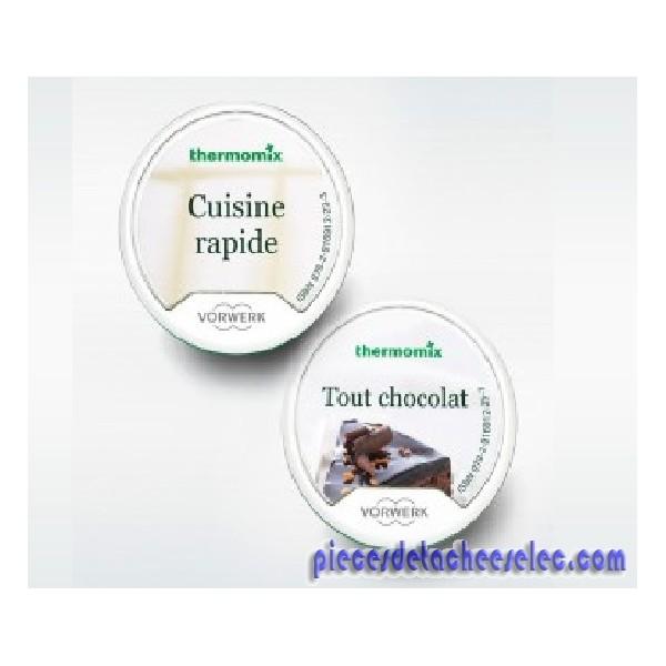 pack promo : clefs cuisine rapide + tout chocolat pour thermomix
