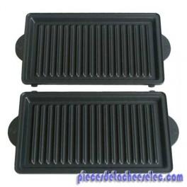 Plaque grill x2 pour gaufrier snack time serie 1 croque monsieur avante type 6025 moulinex - Gaufrier grill croque monsieur ...