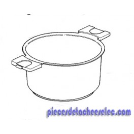 caquelon pour appareil fondue compacte type 652 serie 1. Black Bedroom Furniture Sets. Home Design Ideas