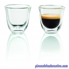 2 Tasses de 60 ml pour Cafetière & Expresso DELONGHI