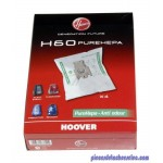Lots de 4 Sacs H60 PureHepa pour Aspirateur Sensory / Freemotion / Purepower / Silent Energy Hoover