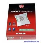 Lots de 4 Sacs H60 PureHepa pour Aspirateur Sensory / Freemotion / Purepower / Silent Energy Hoover