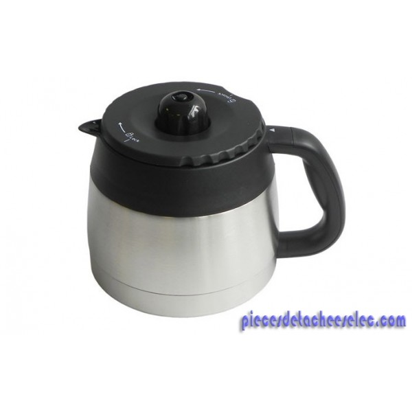 pot thermos inox avec bouchon blanc pour cafeti re express. Black Bedroom Furniture Sets. Home Design Ideas