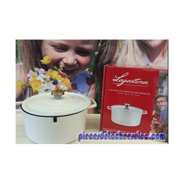 Cocotte blanche en fonte ovale de 6 l pour accessoires lagostina lagostina - Cocotte fonte lagostina ...