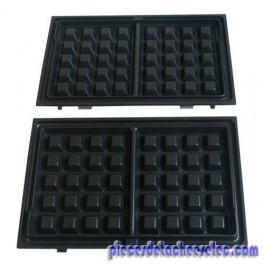 plaque gaufre x 2 pour croque monsieur gaufrier snack 39 n. Black Bedroom Furniture Sets. Home Design Ideas