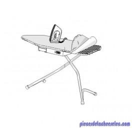 table repasser gris aluminium sans le fer et les deux. Black Bedroom Furniture Sets. Home Design Ideas
