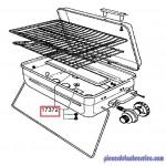 Bruleur Tole pour barbecue Gril 470 & Gril 470-2 Campingaz