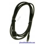 Câble Noir CBF Signal Axial 3 m pour TV UE55JS9000TX2F Samsung