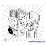 Grille de Protection Ventilateur pour Pompes à Chaleur EnergyLine Pro ENP1MSC Hayward