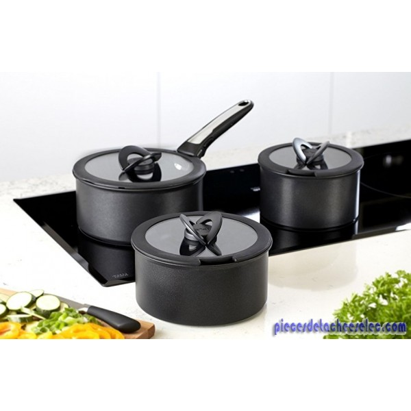 set 3 couvercles en verre 16 20 tefal casserole tefal pi ces d tach es elec. Black Bedroom Furniture Sets. Home Design Ideas