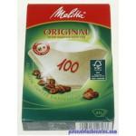 Filtres à Café Original Bruns N100 x 40 pour Cafetières Moulinex