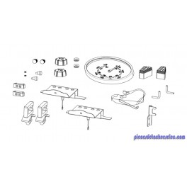 Sachet Accessoires pour Barbecue Genesco / Othello 3 / 4 Classic L Delux Campingaz