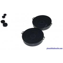 Kit de Deux Filtres à Charbons pour Hotte LC45960 Siemens