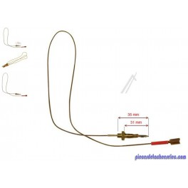 Thermocouple L 680 mm pour Plaque de Cuisson T497GTF Scholtes