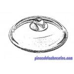 Couvercle en Verre Diam 22 cm pour Cocottes Silit