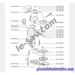COUVERCLE ROBOT MOULINEX OVATIO 3 SONY BOL