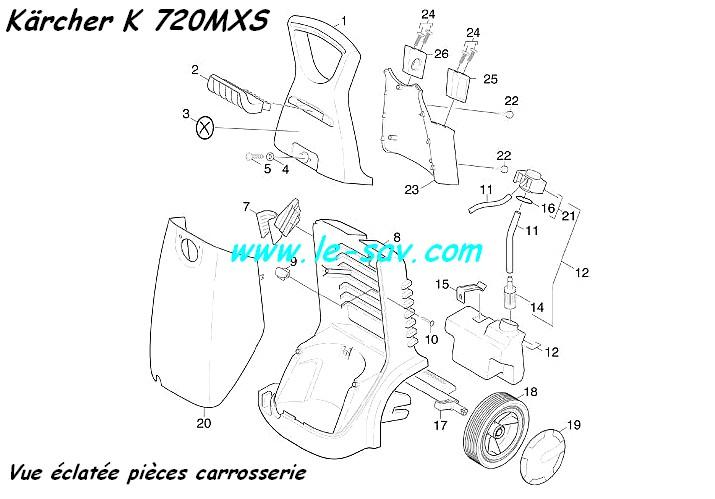 capot    carrosserie k720 mx