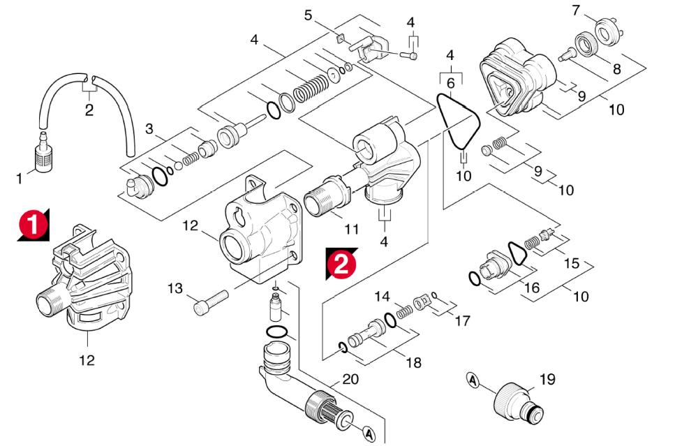 culasse k 490m - pièces détachées elec